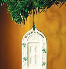HOLIDAY HOUSE BLESSING DOOR BELLEEK ORNAMENT