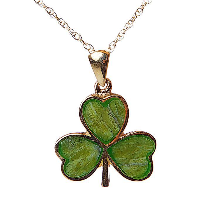 Pendants necklaces facet 10k shamrock pendant with connemara pendants necklaces facet 10k shamrock pendant with connemara aloadofball Images