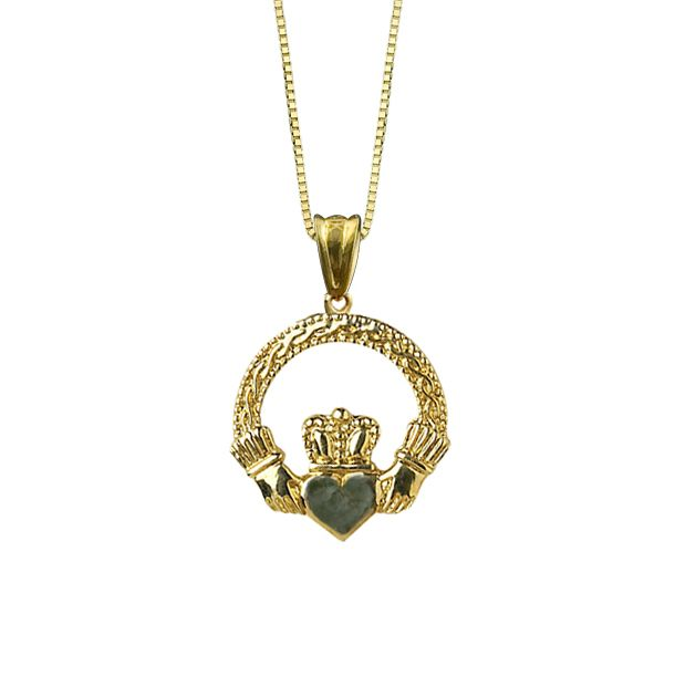 listing handmade pendant il ship ready claddagh necklace to