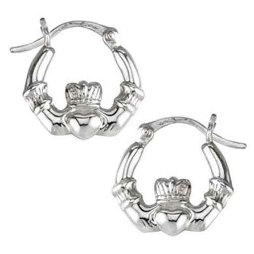 Earrings Solvar Sterling Sml Claddagh Hoop