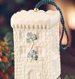 HOLIDAY DROMOLAND CASTLE BELL BELLEEK ORNAMENT