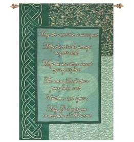 TAPESTRIES, THROWS, ETC. BLESSING SHAMROCK TAPESTRY