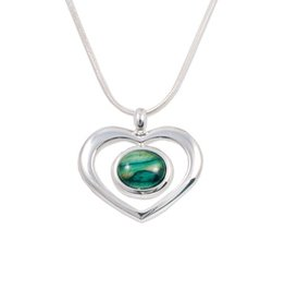 PENDANTS & NECKLACES HEATHERGEM OPEN HEART PENDANT
