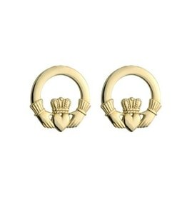EARRINGS 14K YELLOW GOLD CLADDAGH EARRINGS