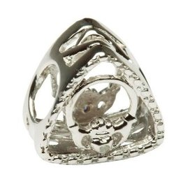 BEADS TARA'S DIARY DIAMOND CLADDAGH TRIANGLE BEAD
