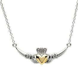 PENDANTS & NECKLACES PlatinumWare CLADDAGH WITH GOLD PLATE HEART NECKLET