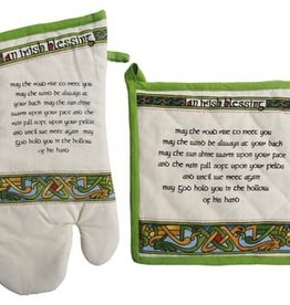 KITCHEN & ACCESSORIES CELTIC WEAVE IRISH BLESSING OVEN MITT/POT HOLDER