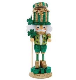 HOLIDAY DECOR POT OF GOLD SPARKLEY NUTCRACKER