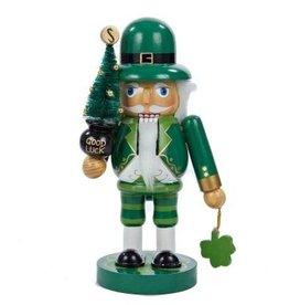 HOLIDAY DECOR IRISH NUTCRACKER with SHAMROCK & TREE