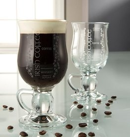 BARWARE GALWAY CRYSTAL IRISH COFFEE GLASSES (2)