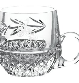 BABY RELIGIOUS GALWAY CRYSTAL CHRISTENING MUG - STORK