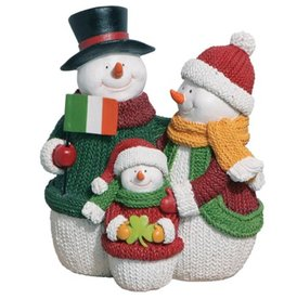 SNOWMEN IRISH PRIDE SNOWMAN FAMILY