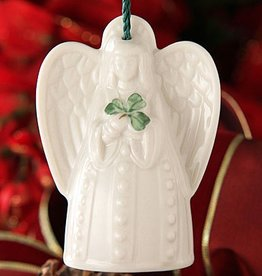 ORNAMENTS ANGEL with SHAMROCK BELL BELLEEK ORNAMENT