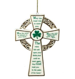 ORNAMENTS IRISH BLESSING CROSS ORNAMENT
