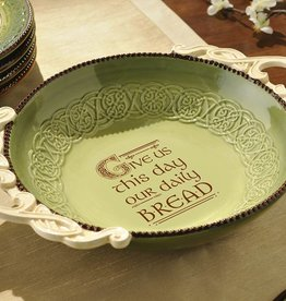 """KITCHEN & ACCESSORIES """"GIVE US THIS DAY..."""" CELTIC BREAD BOWL"""