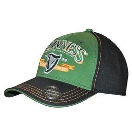 CAPS & HATS GUINNESS CAP with OPENER - GREEN & ORANGE HARP