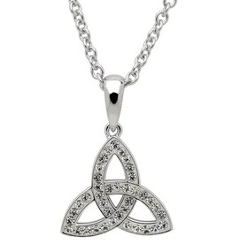 PENDANTS & NECKLACES STERLING SILVER SMALL TRINITY PENDANT adorned with SWAROVSKI CRYSTALS