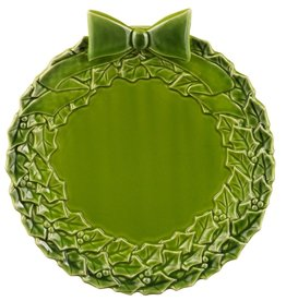 PLATES, TRAYS & DISHES WINTER BLOOM CERAMIC WREATH PLATE