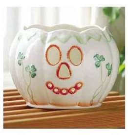 HOLIDAY BELLEEK PUMPKIN VOTIVE