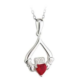 PENDANTS & NECKLACES CLEARANCE - SOLVAR STERLING VALENTINE CLADDAGH DROP PENDANT - FINAL SALE
