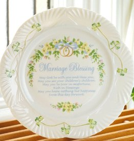 PLATES, TRAYS & DISHES BELLEEK MARRIAGE BLESSING PLATE