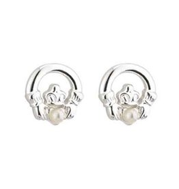 EARRINGS SILVER PLATE CLADDAGH EARRINGS