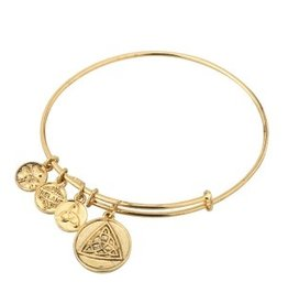 BRACELETS & BANGLES SOLVAR GOLD TONE CELTIC KNOT CHARM BANGLE
