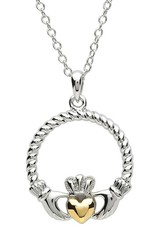 PENDANTS & NECKLACES PlatinumWare CLADDAGH PENDANT with TWIST HEART