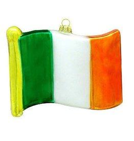 ORNAMENTS IRELAND FLAG GLASS ORNAMENT