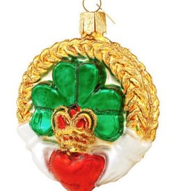 ORNAMENTS GLASS CLADDAGH ORNAMENT