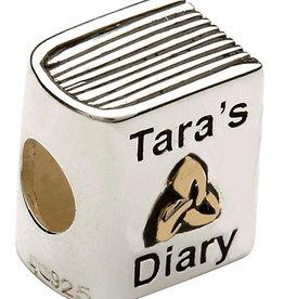 BEADS TARAS DIARY 14K GOLD PLATE DIARY BEAD