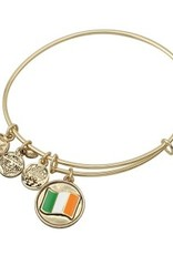 BRACELETS & BANGLES SOLVAR GOLD TONE 'FLAG' CHARM BANGLE