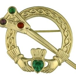PINS & BROACHES SOLVAR 18K PLATED TARA BROOCH with STONES