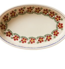 KITCHEN & ACCESSORIES NICHOLAS MOSSE SMALL OVAL OVEN DISH - OLD ROSE