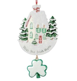 "ORNAMENTS ""BLESS THIS IRISH HOUSE"" ORNAMENT"