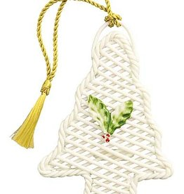 ORNAMENTS BASKET WEAVE CHRISTMAS TREE BELLEEK ORNAMENT