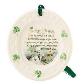ORNAMENTS IRISH BLESSING PLATE BELLEEK ORNAMENT