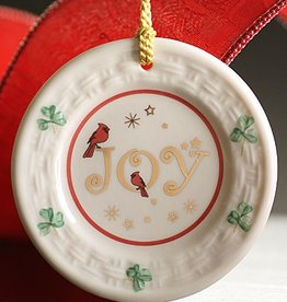 ORNAMENTS JOY PLATE BELLEEK ORNAMENT