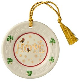 ORNAMENTS HOPE PLATE BELLEEK ORNAMENT