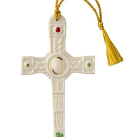 ORNAMENTS CLOGHER CROSS BELLEEK ORNAMENT