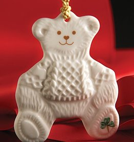 ORNAMENTS TEDDY BEAR BELLEEK ORNAMENT