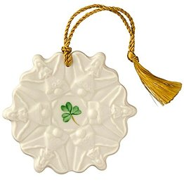ORNAMENTS ANGEL SNOWFLAKE BELLEEK ORNAMENT