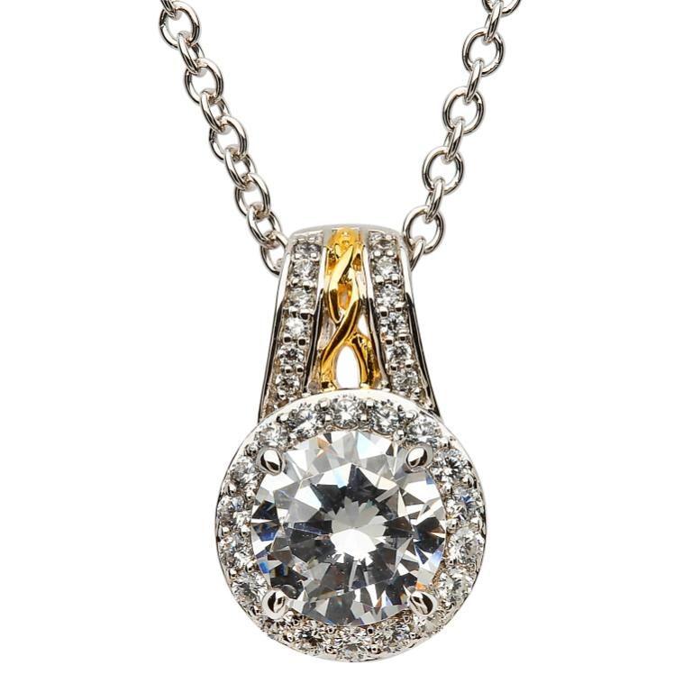 Pendants necklaces shanore sterling celtic halo pendant with cz pendants necklaces shanore sterling celtic halo pendant with aloadofball Image collections