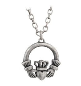 MENS JEWELRY SOLVAR CELTIC MAN CLADDAGH PENDANT