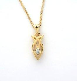 PENDANTS & NECKLACES 14K GOLD CELTIC PENDANT WITH DIAMOND