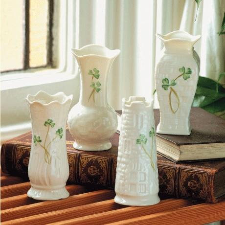 Belleek Mini Vases Set Of 4 Irish Crossroads