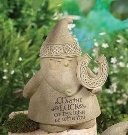 "GARDEN CELTIC GNOME ""LUCK OF THE IRISH"""