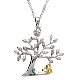 PENDANTS & NECKLACES STERLING SILVER TREE OF LIFE TRINITY PENDANT