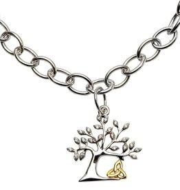 BRACELETS & BANGLES STERLING SILVER TREE OF LIFE TRINITY BRACELET