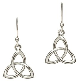 EARRINGS TWIST HEAVY STERLING TRINITY KNOT EARRINGS